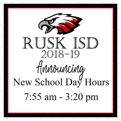 School Day Hours for 2018-2019